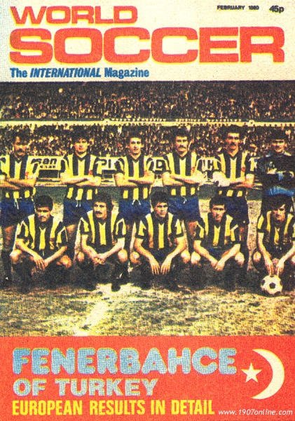 Fenerbahce on the cover of World Soccer Mag