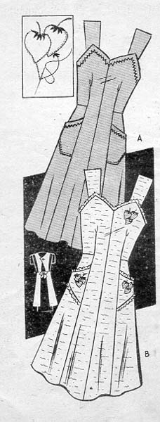 Commercial Pattern Archive: vintage sewing: Anne Adams #4576 c.1944 Apron. Click on broken link for pattern pieces