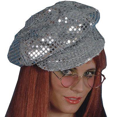 Zilveren disco pet voor volwassenen. Deze zilveren disco pet erg leuk voor bijvoorbeeld een 70's of carnavals party. Ben een opvallende verschijning met deze zilveren glamour pet.
