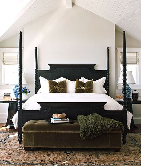 Gorgeous bedroom on Lido Isle. Interior design by Julie Hovnanian.