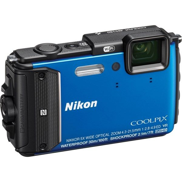 Price Rs.17,800/- Buy #Blue #Nikon Coolpix AW130 Online in India