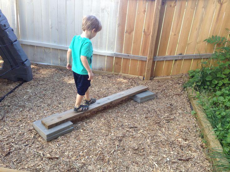 Kid Friendly Backyard Ideas - balance beam