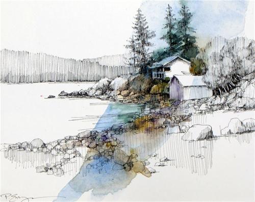 """Fidalgo Island"" - Original Fine Art for Sale - © Paula Ensign"