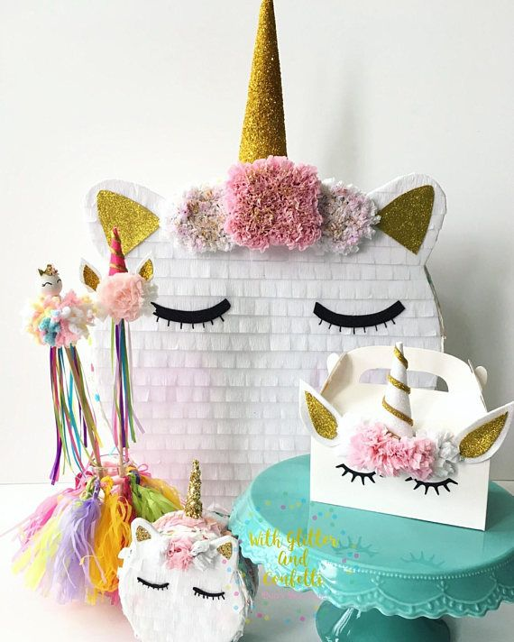 THIS LISTING IS FOR 1 BIG UNICORN PINATA! Just roll me in sprinkles and call me a unicorn! Whats better than unicorn macarons? Unicorn Macaron Mini Pinatas! shimmery, glittery, and full of goodies. This super cute mini pinata will be a smash hit on your next celebration, perfect