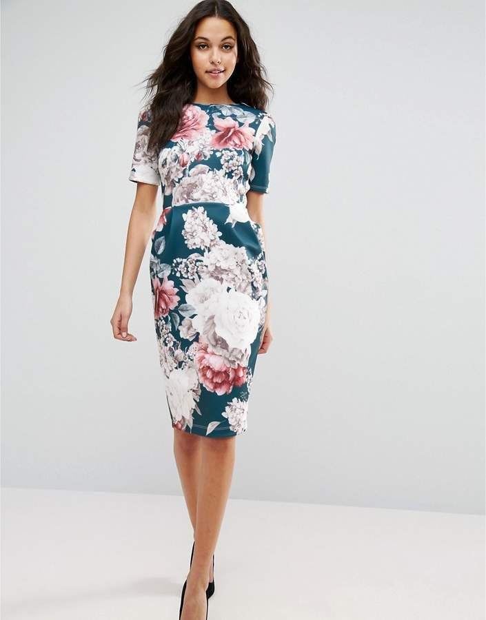 ASOS Wiggle Dress in Floral Print