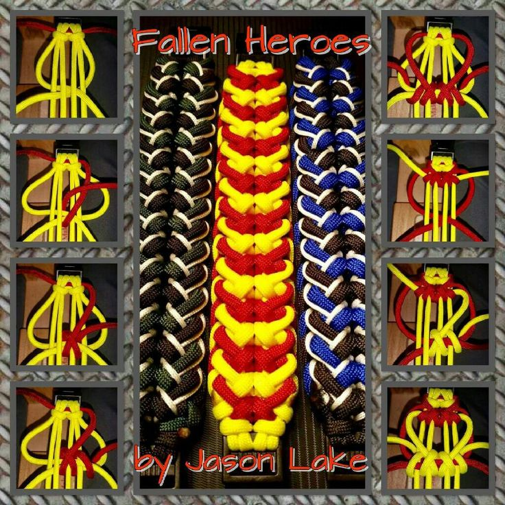 """Fallen Heroes"" Paracord Bracelet Tutorial by Jason Lake"