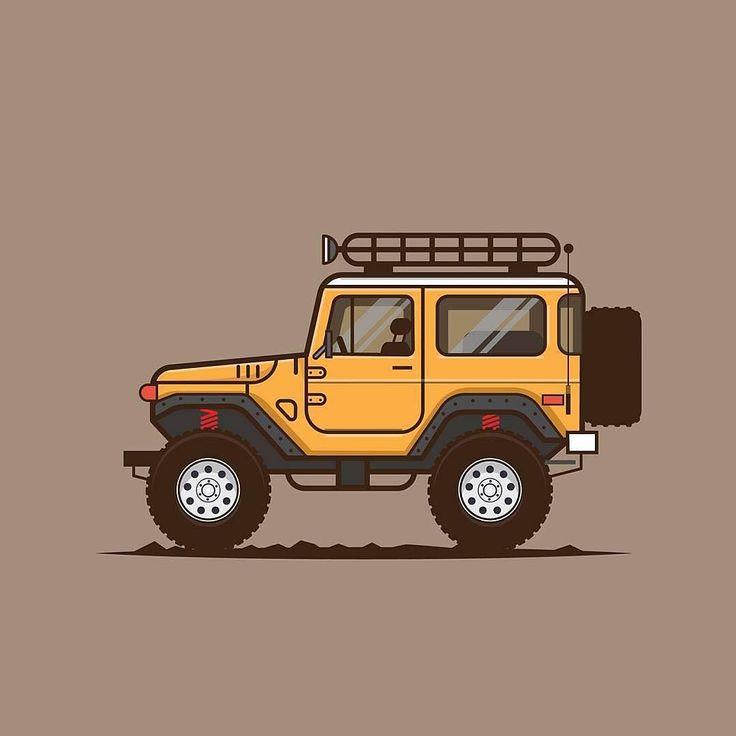 Toyota Land Cruiser Digital Illustration by @jaylineart  #PixelPerfectDesign if…