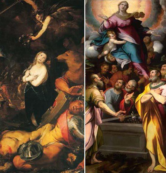 Cerano il martirio di s caterina 3a cappella camillo - Giulio iacchetti interno italiano ...