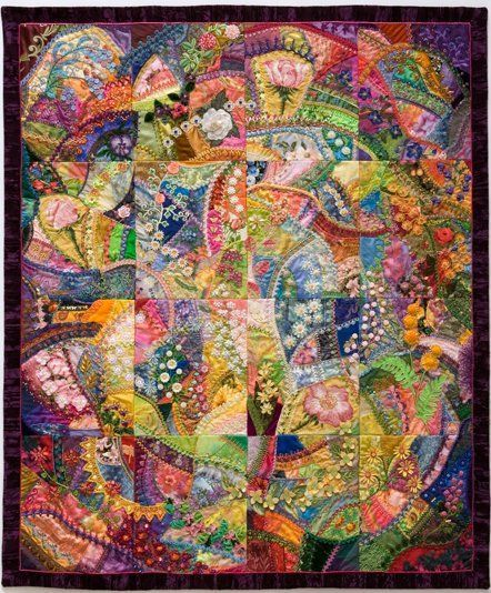32 best Crazy Quilt Ideas images on Pinterest | Embroidery, Books ... : crazy quilt projects - Adamdwight.com