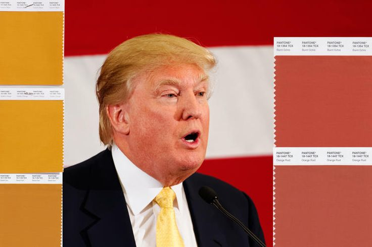 #Election2016 - The color gurus at Pantone solve one of this election season's greatest quandaries: What shade of orange is Donald Trump?