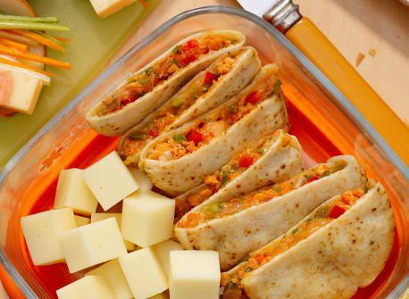 Salmon & Provolone Mini-Quesadillas