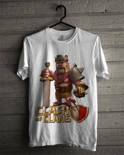 Kaos Barbarian King COC - Bikin Kaos Satuan