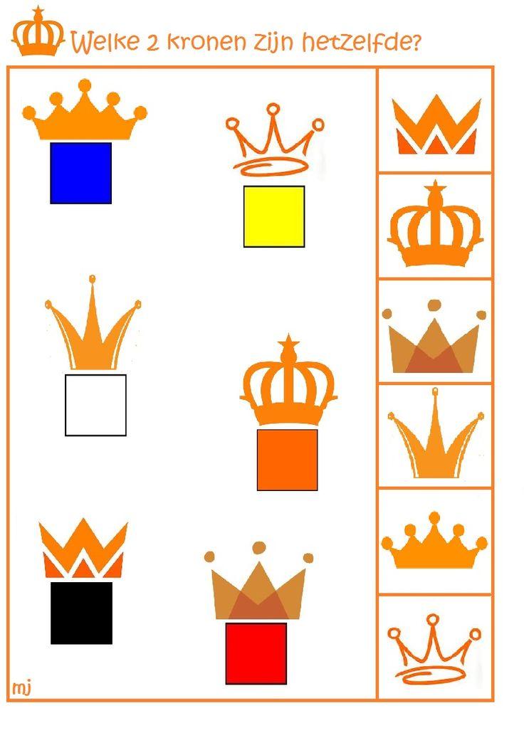 * Welke 2 kronen zijn hetzelfde? 1-2