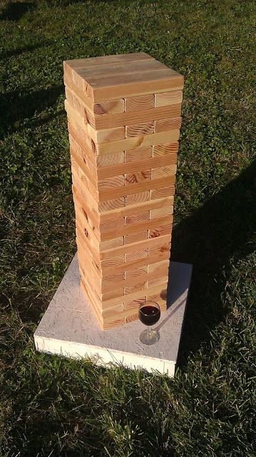 little country house: A Very Addictive Yard Game. Giant Jenga!