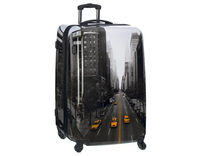 Fabrizio - STREETS of New York - 2teiliges SET: Reisekoffer mit Rollen