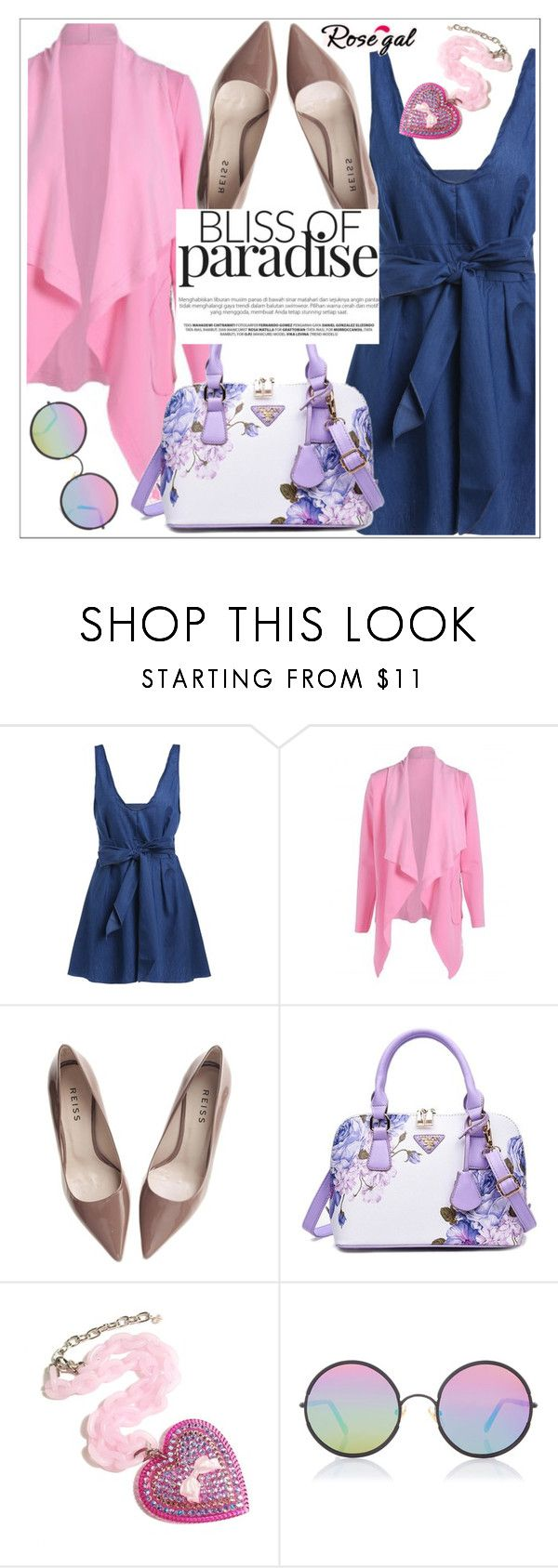 """""""Rosegal"""" by teoecar ❤ liked on Polyvore featuring Reiss, Tarina Tarantino and Sunday Somewhere"""