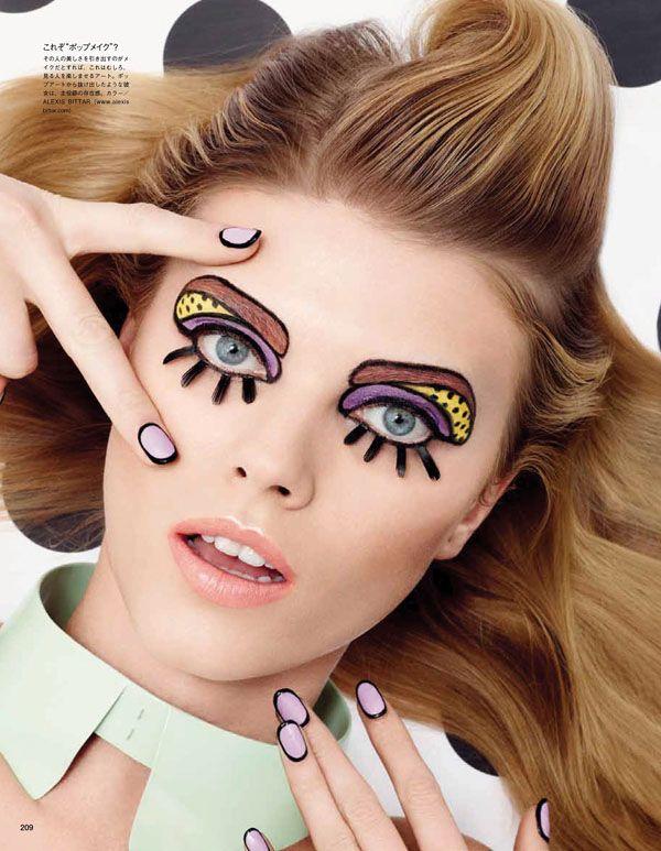 Illustration by Craig & Karl. #VogueJapan #Fashion #Nails #Makeup #Advertising #Magazine #Design #CraigandKarl