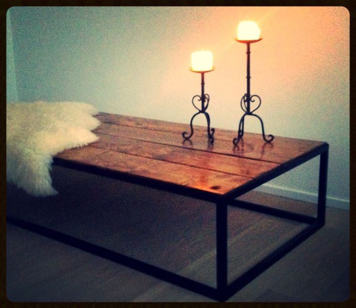 Pinewood Coffee Table, from our Collection Steel N Wood