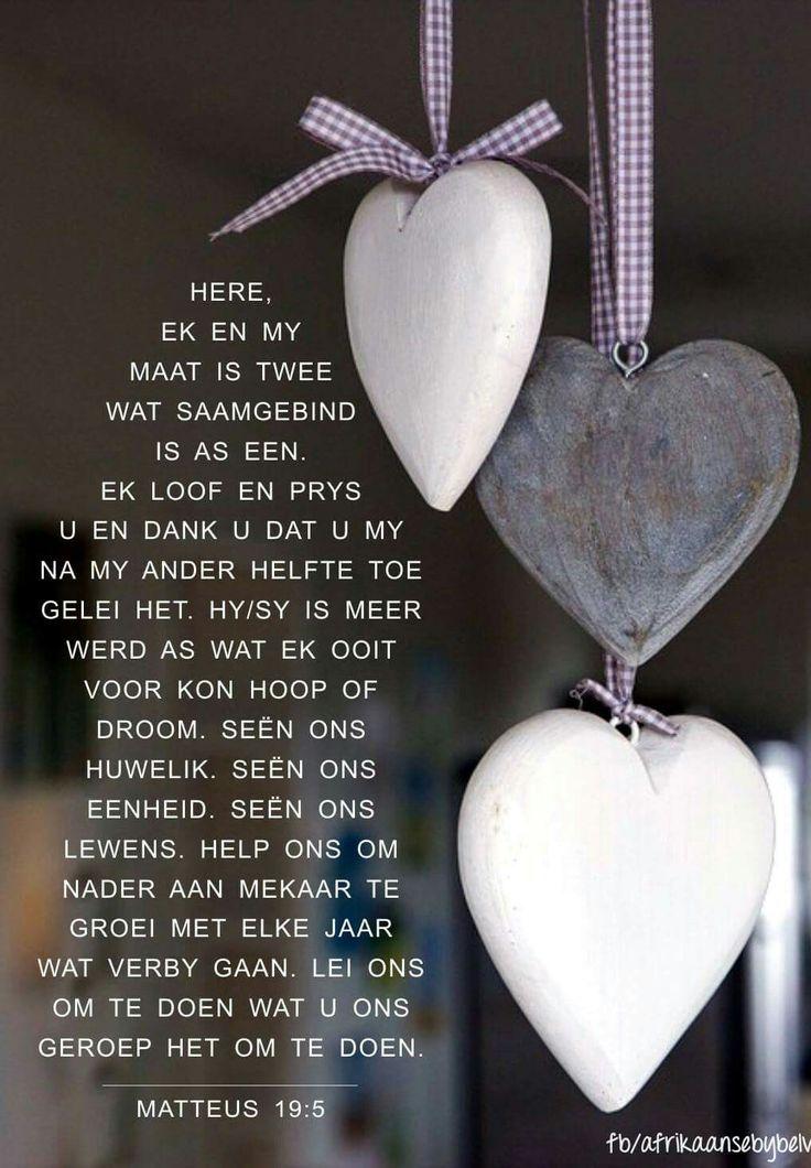 Gebed vir die huwelik... #Afrikaans #HappilyEverAfter #Prayer