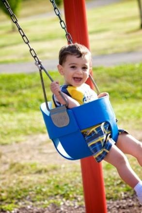 The swing is the best! Share a pic of your kids playing outside and you could win a playground! #PowerTheirPlay www.cubbywarehouse.com.au