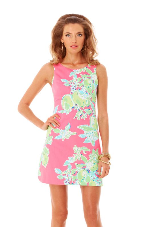 Delia Shift Dress---ONLY $178 !  What a deal !  My Mom had a Lilly in 1968,  and it's still in style today.  If I bought this dress today, I could still be wearing it when Skyler's children graduate from Harvard.