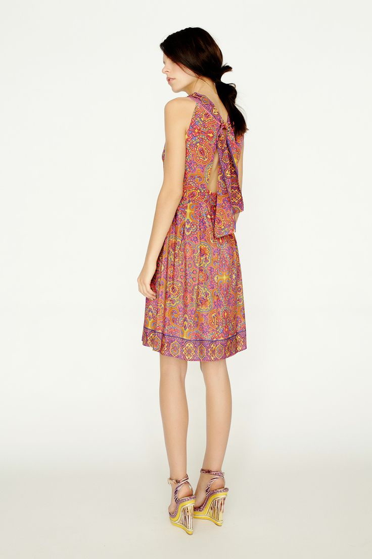 collette by Collette Dinnigan Sash Tie Back Dress