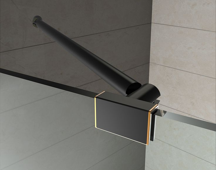 SEN992 AVALUX GS Completely Frameless Square | Rectangular Shower Enclosure with Shelves - Oil Rubbed Bronze Hardware Finish, Clear Glass