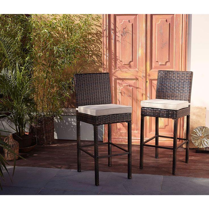 George Home 2 Jakarta High-Bar Chairs - Dark Linen | Garden Furniture | ASDA direct