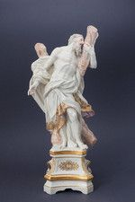 Saint Andrew the Apostle on a High Pedestal by MEISSEN PORCELAIN.
