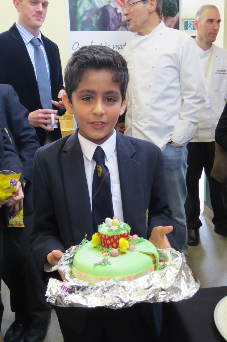 Blue Coat Bake Off - competition winner Rikhil Bansal in Year 7