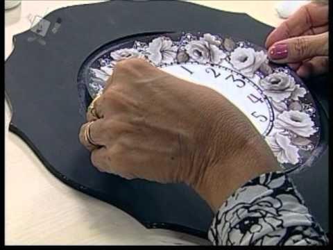 Ateliê na Tv - 21-04-12 - Lili Negrão - Relógio Motivo Rosas