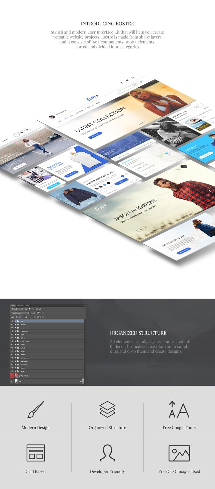 Ēostre Ui Kit   #web #website #ui #uikit #design