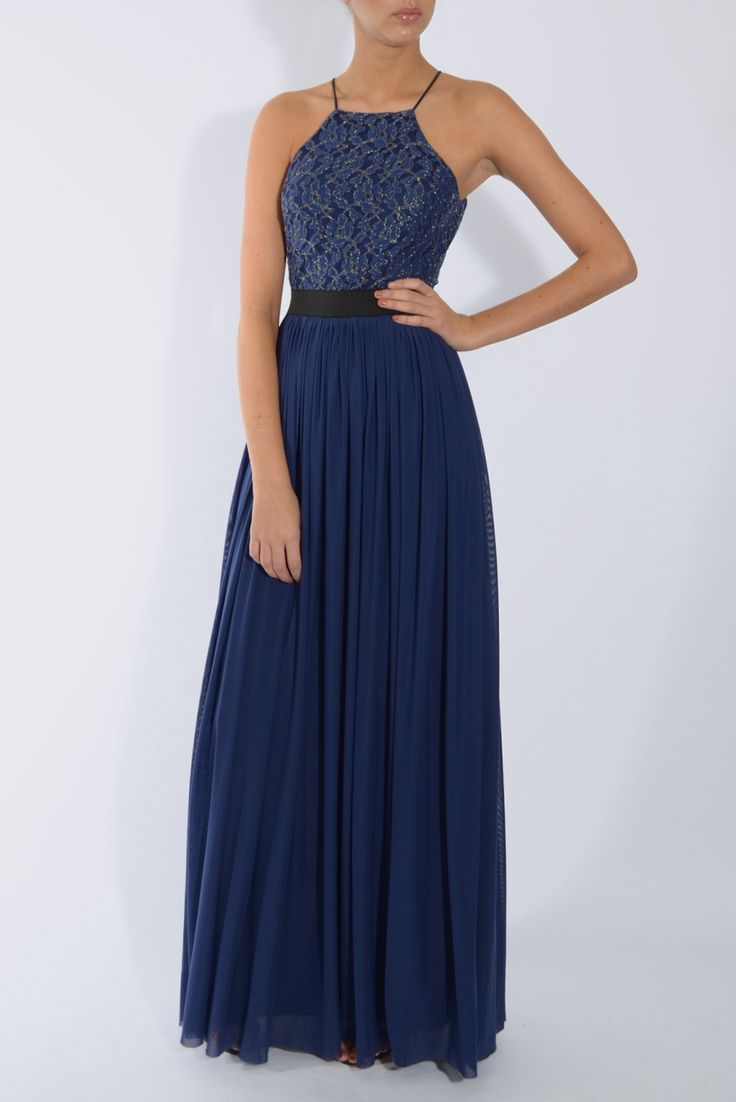 Navy blue lace top maxi dress rare london rachel 39 s for Navy blue maxi dress for wedding