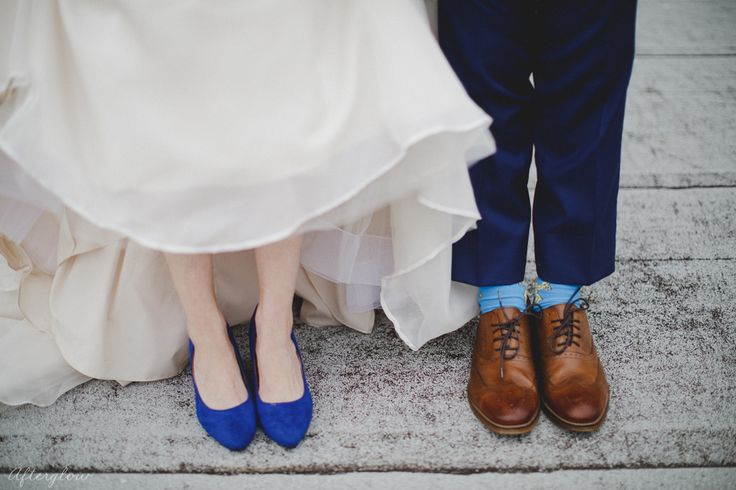 Cave spring wedding shoes blue and brown