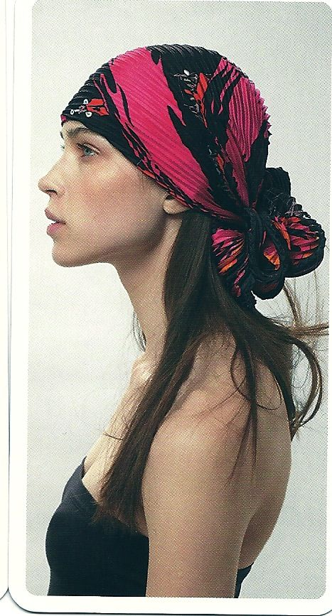 u could take old skirts and dresses and make these. granny prints would actually make cool headwraps