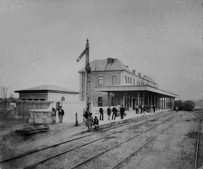 Giurgiu vazut prin ochiul care vrea sa vada: Nou si vechi - Gara CFR centru Giurgiu 1873