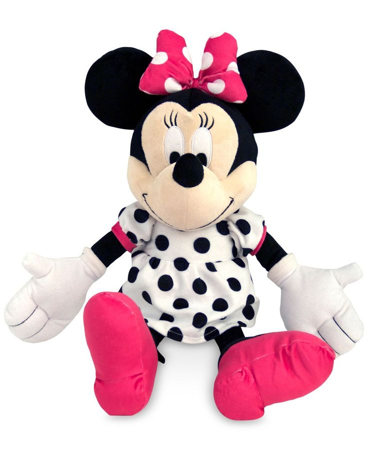 "Add Minnie to your little one's bed for a standout look that brings a fun flair to the room. | Polyester | Spot clean | Imported | Dimensions: 21"" x 7"" x 10"" 