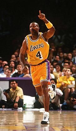 "Byron Scott -- one of my favorite players in the 80s.  Great 2 guard with Magic.  Beautiful jumper and 6'4"" clutch shooter!"