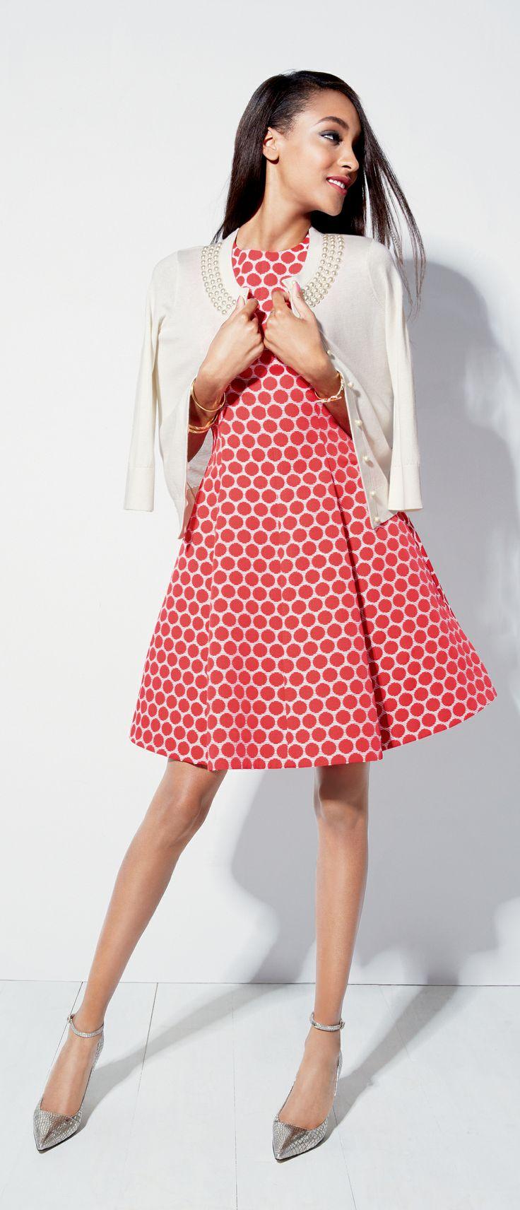 Always darling: Kate Spade dresses. #bold #print #metallic