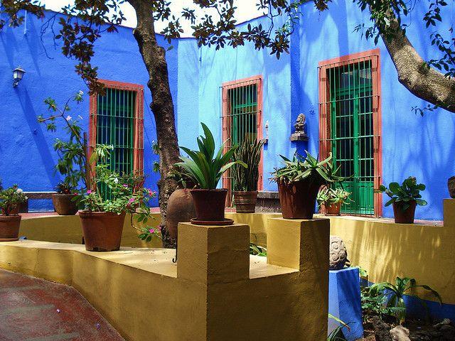 """Mexico City, Coyoacan, the """"Casa Azul"""", Frida Kahlo's house"""