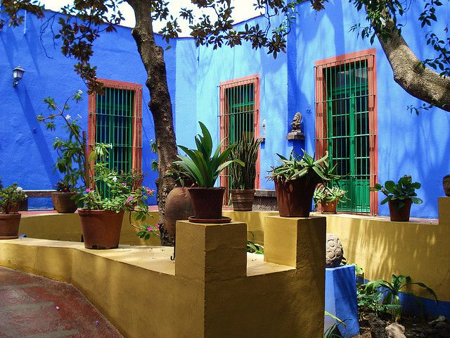 "Mexico City, Coyoacan, the ""Casa Azul"", Frida Kahlo's house"