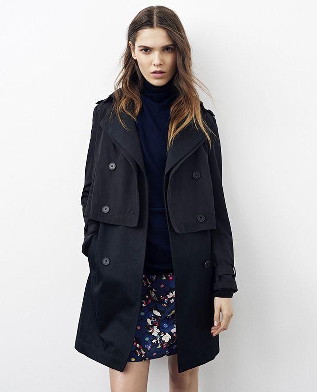 les 25 meilleures id es concernant trench noir femme sur pinterest trench noir trench coats. Black Bedroom Furniture Sets. Home Design Ideas