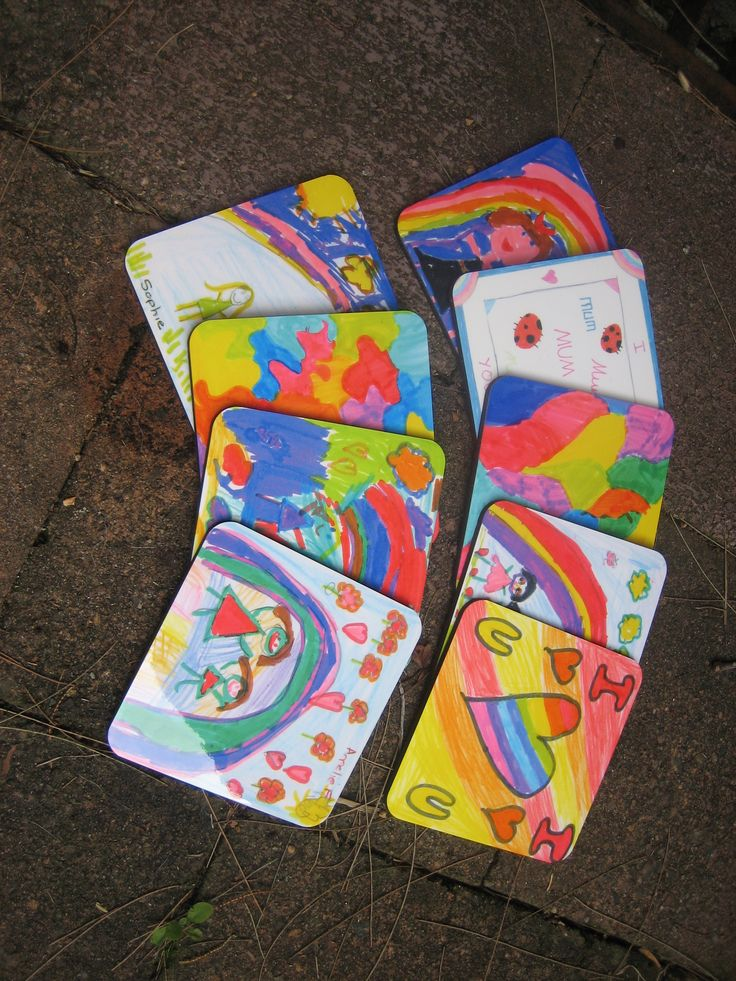 Everyone can use coasters, specially if they are created with the art of your child or friends child. #coaster #art #decor #kidsart