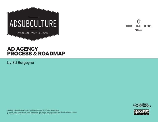 Advertising Agency Workflow / Process www.adsubculture.com by Ed Burgoyne via slideshare