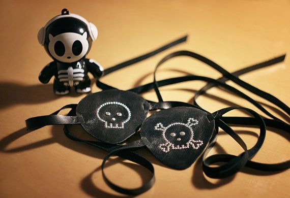 Halloween leather pirate eye patch for you