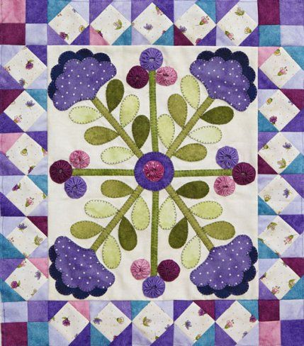 Fantasy Garden Color Option by quilt tester Laura Boehnke using @maywoodfabric.
