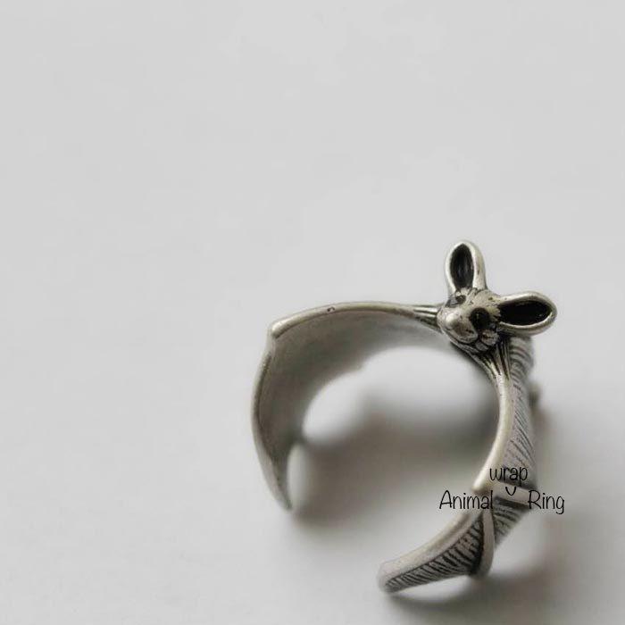 Bat, Bat Ring, Bat Wrap Ring, Batman Ring, Animal Wrap Ring, Custom Colored Ring by animalwrapring on Etsy