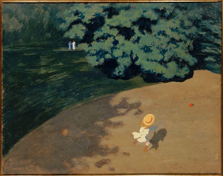 """""""Le Ballon"""", ou """"Coin de parc avec enfant"""", Félix Vallotton, 1899 © Photo RMN - Hervé Lewandowski"""
