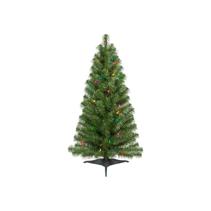 3ft Prelit Artificial Christmas Tree Alberta Spruce Multicolored Lights - Wondershop, Green