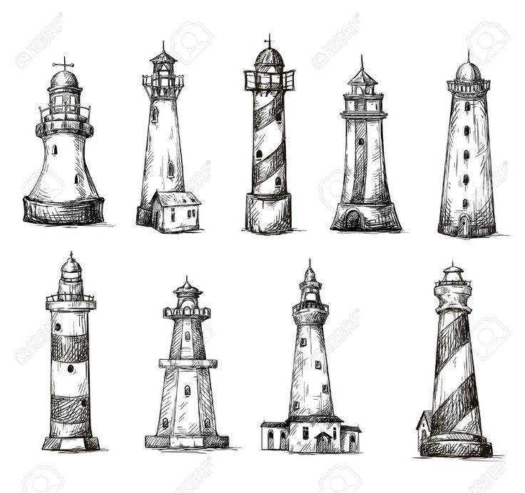 Mejores 15 imágenes de Dibujos faros en Pinterest   Faros, Dibujo de ...